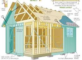 Free Diy Shed Building Plans by Detailed Framing For Shed Plans Garage Addition Pinterest