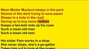mr mustard the beatles mr mustard lyrics