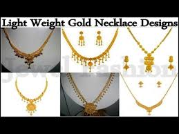 light weight gold jewellery necklace designs