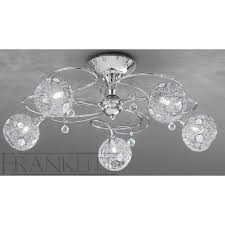 Chrome Ceiling Lights Uk Franklite Fl2214 5 Chrome 5 Light Flush Ceiling Light