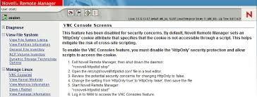 vnc console accessing vnc consoles oes 11 sp3 novell remote manager