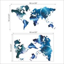 stickers dragon picture more detailed picture about 3d world map 3d world map outer space star sky home office decal wall art wall sticker kids classroom