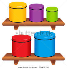 colorful kitchen canisters kitchen canister set five multi color stock vector 332291243