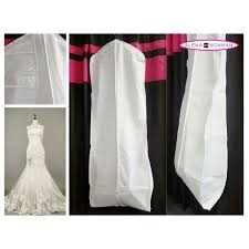 wedding dress garment bag white breathable wedding gown prom dress garment bag