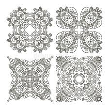 set aztec ornaments stock vector image of grey frame 24408834