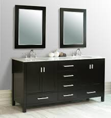 modern black wooden bathroom vanities using gray marble countertop