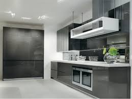 gloss kitchen ideas modern grey kitchen with high gloss cabinets grey gloss
