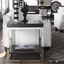 luxe designer black u0026 chrome side table courtesy of instyle decor