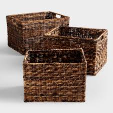 Rattan Baskets by Large Wicker Baskets For Storage Home Design Ideas