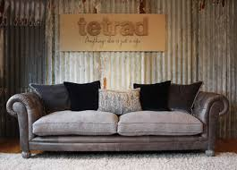 Tetrad Armchair Tetrad Mixed Leather U0026 Fabric Sofas Jefferson Westchester Degas