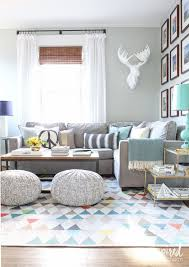 Grey Family Room Ideas Spring Living Room Poufs Note And Grey