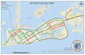 City Of Miami Zoning Map by Bike Transit And Car Free Maps Key West Fl