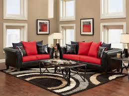 red and gray living room design decoration home interior ideas