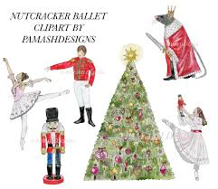 nutcracker ballet watercolor clipart for projects