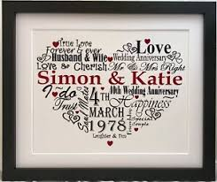 paper anniversary gift personalised 1st one year paper anniversary gift present word