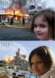 Fire Girl Meme - disaster girl know your meme