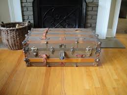 antique vintage steamer trunk coffee table