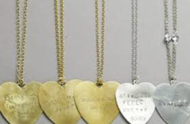 engraved necklace engraved heart necklace with quotes