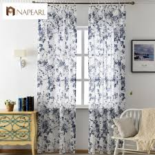 Blue Window Curtains by Online Get Cheap Blue Window Treatments Aliexpress Com Alibaba