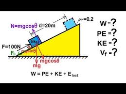 physics mechanics work energy and power 7 of 20 inclined