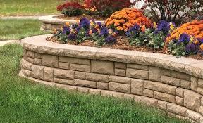 Retaining Wall Ideas For Gardens Garden Retaining Wall Ideas Simple Front Yard Garden Concrete