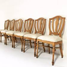 Maple Dining Room Sets Vintage Maple Dining Chairs In Brazilian Ivory Cowhide Set Of 6