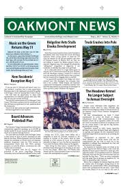 Srjc Map Oakmont News May 1 2015 By Oakmont Village Issuu