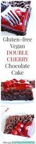 gluten free vegan double cherry chocolate cake gluten dairy egg