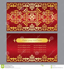 Invitation Cards Business A Set Of Invitation Cards Business Cards Red Background With G