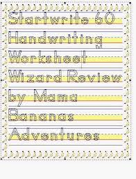 startwrite 6 0 review the handwriting worksheet wizard review