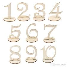 table numbers wedding diy wooden wedding table numbers unpainted wood wedding reception