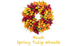 tulip wreath blush tulip front door wreath 19 inch stunning