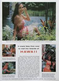 hawaii travel bureau 1963 hawaii travel print ad by tropical pool 1960s