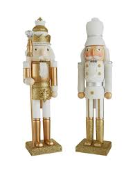 gold nutcracker decorations 2 pack http www co