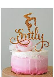 birthday cake topper personalised gymnastics cake topper gymnast cake