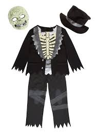 halloween kids terrifying tuxedo zombie costume 3 12 years tu