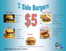5 00 burger special at c side snack shack uscg base cape cod mwr