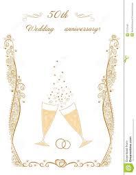 50th wedding anniversary invitation stock vector image 57375491