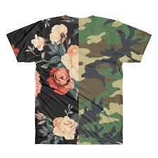 camo flowers caution all camo flowers t shirt caution shop