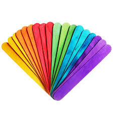 wedding program fan sticks new 200 pcs jumbo wood craft sticks colored for wedding