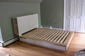 bedroom fancy ikea headboard with storage kallax bed frame