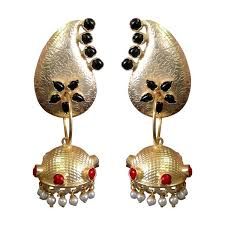gold jhumka earrings dangler gold jhumka earrings deara fashion accessories