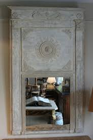 early 19th century french neoclassical painted trumeau mirror