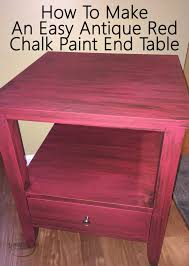 How To Make End Tables Furniture by How To Make An Easy Antique Red Chalk Paint End Table Sabrina U0027s