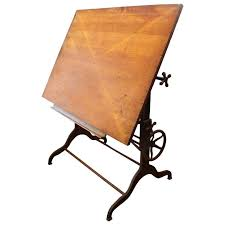 Dietzgen Drafting Table Late 1800s Dietzgen Drafting Table With Adjustable Cast Iron Base