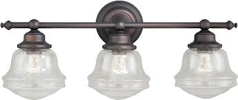 Vaxcel W0190 Huntley Oil Rubbed Bronze 3 Light Bath Lighting Fixture Bathroom Vanity Light Fixtures Rubbed Bronze