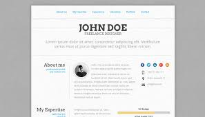 Free Resume Website Templates 20 Creative Resume Website Templates To Improve Your Online Presence