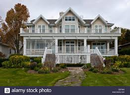 a large home of colonial architecture in harbor springs michigan