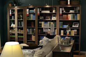 Billy Bookcase With Glass Doors Ikea Bookshelves With Glass Doors Thuillies