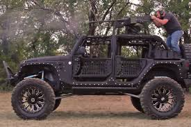 jeep custom video custom starwood jeep with 50 cal on top will blow you away